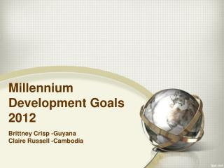 Millennium Development Goals 2012