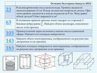Решение: V вытесн .  жидк .  =  V детали  = 9/12 *2000 = = ¾ * 2000 =  1500