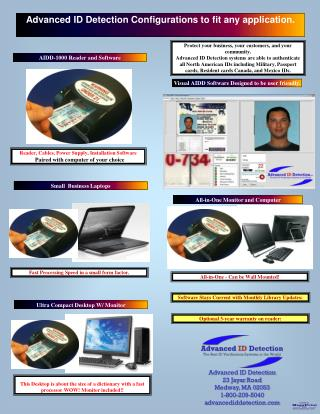 Advanced ID Detection Configurations to f it any  a pplication .