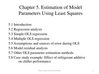 Chapter 5. Estimation  of Model Parameters Using Least Squares