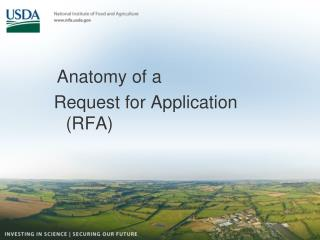 Anatomy of a  Request for Application (RFA)