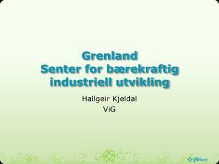Grenland Senter for bærekraftig industriell utvikling