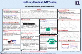 Multi-core  Structural SVM  Training Kai-Wei  Chang,  Vivek Srikumar and Dan Roth