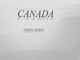 Canada Tereza Horká
