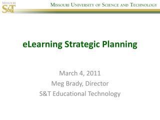 eLearning Strategic Planning
