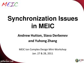 Synchronization Issues in MEIC