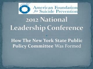 2012 National Leadership Conference