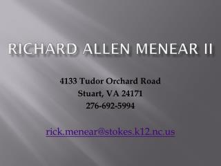 Richard Allen Menear II