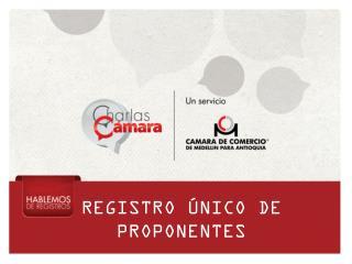 REGISTRO �NICO DE PROPONENTES