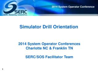 Simulator Drill Orientation