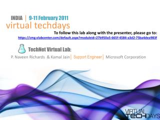 TechNet Virtual Lab: