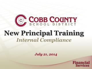 New Principal Training Internal Compliance