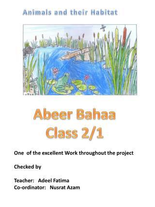 Abeer Bahaa Class 2/1