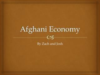 Afghani Economy