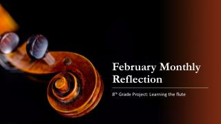 February Monthly Reflection