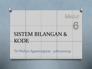 SISTEM BILANGAN & KODE