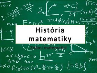 Známi matematici