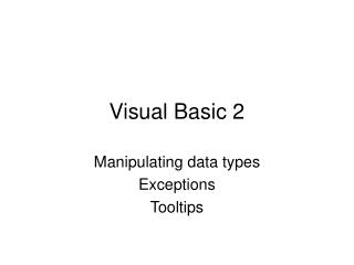Visual Basic 2