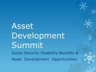 Asset Development Summit