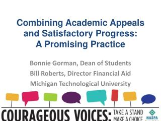 Combining Academic Appeals and Satisfactory Progress:  A Promising Practice