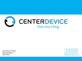 CenterDevice GmbH Rheinwerkallee 3 53227  Bonn