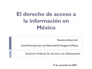 Instituto Federal de Acceso a la Información