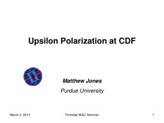 Upsilon Polarization at CDF