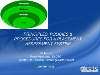 PRINCIPLES,  POLICIES  & PROCEDURES FOR A PLACEMENT ASSESSMENT SYSTEM