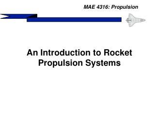 MAE 4316: Propulsion