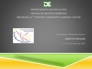 Convocatoria Propuestas Nuevas ASPECTOS FISCALES 1-4 y 6 de  marzo  de 2013