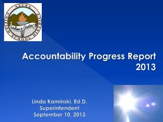 Accountability Progress Report 2013