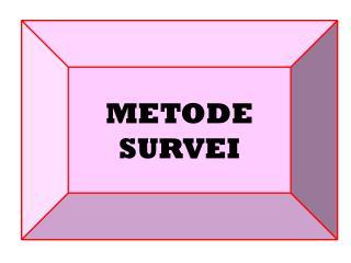 METODE  SURVEI