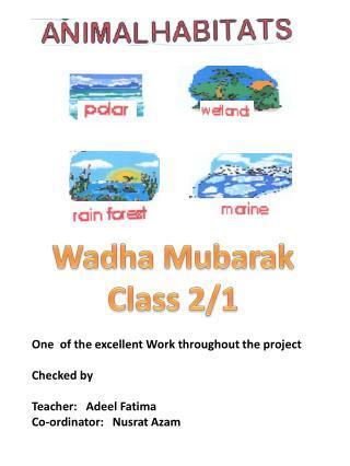 Wadha  Mubarak Class 2/1