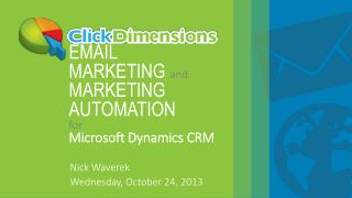 EMAIL MARKETING  and MARKETING AUTOMATION for Microsoft Dynamics CRM