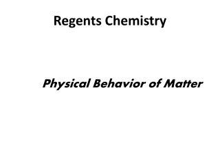 Regents Chemistry