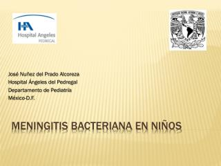 Meningitis bacteriana en niños