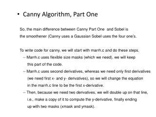 Canny Algorithm, Part One