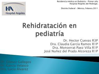 Rehidratación en pediatría
