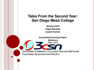 California Community Colleges' Success Network California Acceleration Project