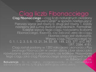 Ciąg liczb  Fibonacciego