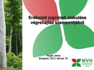 Erdészeti jogcímek alakulása végrehajtás szempontjából