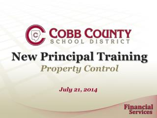 New Principal Training Property Control