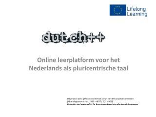 Online leerplatform voor het Nederlands als  pluricentrische taal