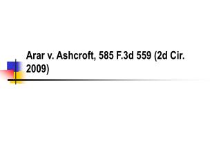 Arar v. Ashcroft, 585 F.3d 559 2d Cir. 2009