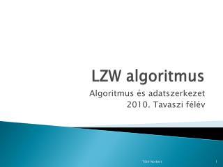 LZW algoritmus