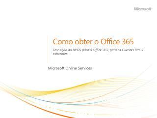 Como obter o Office 365