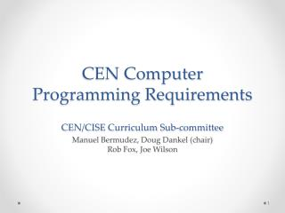 Existing Programming Requirements