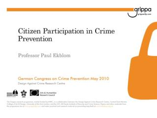 Crime Prevention  Community Safety: Kinds of knowledge relevant to practice