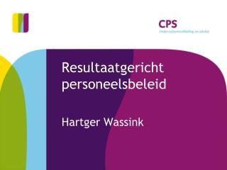 Resultaatgericht personeelsbeleid