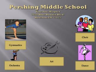 Pershing Middle School Fine Arts Magnet  3838 Blue Bonnet Blvd. Houston, TX 77025